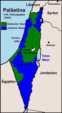 UN Teilungsplan von 1947