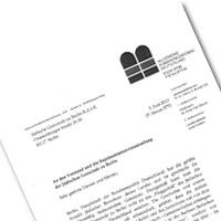 Brief der Allgemeinen Rabbinerkonferenz