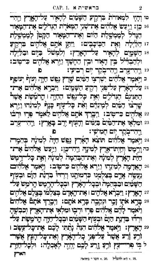 Letteris Torah - Vorlage