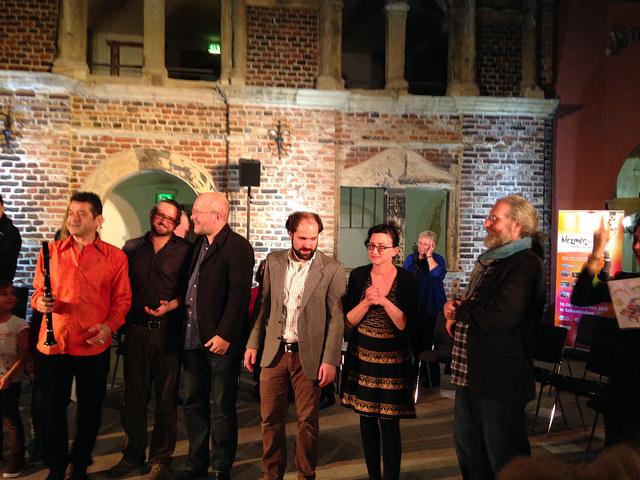 Dozenten des Klezmer-Workshops 2015