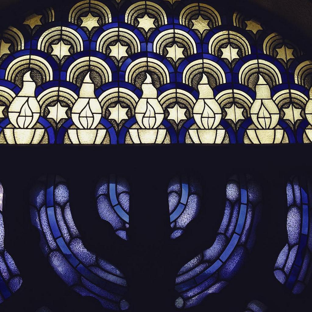 Fenster in der Alten Synagoge Essen