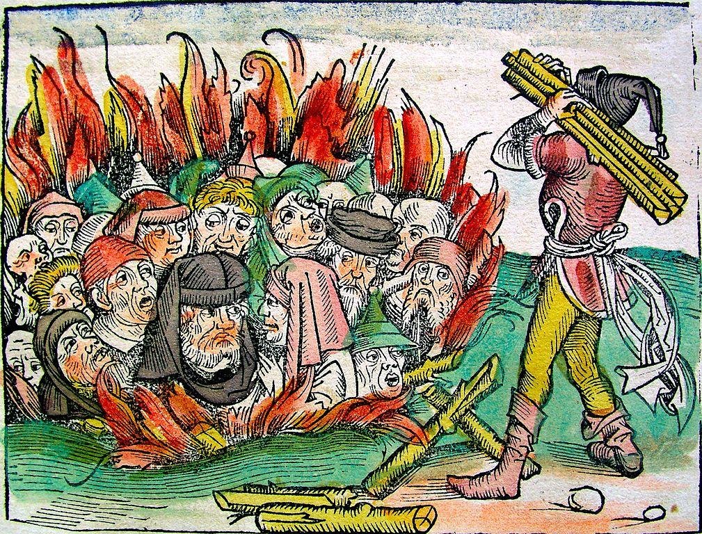 Verbrennung von Juden - aus dem Liber Chronicarum - der Schedelschen Weltchronik