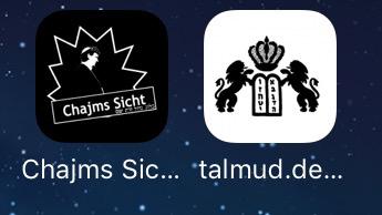 talmud.de, sprachkasse.de/blog auf dem Homescreen des iPhones