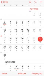 Kalender auf dem IPhone mit jüdischem Datum