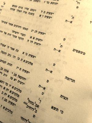 List der Haftarot in der Encyclopedia Talmudit