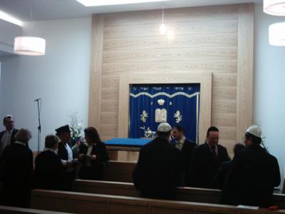 Blick in die neue Synagoge