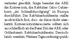 Jüdische Allgemeine - Bericht über die ARK