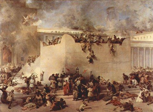 Die Tempelzerstörung - von Francesco Hayez