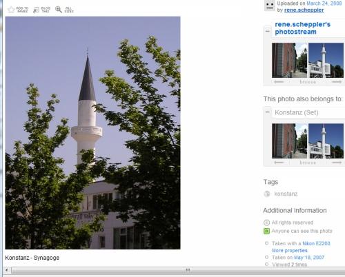 Moschee in Konstanz auf flickr