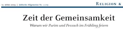 Jüdische Allgemeine März