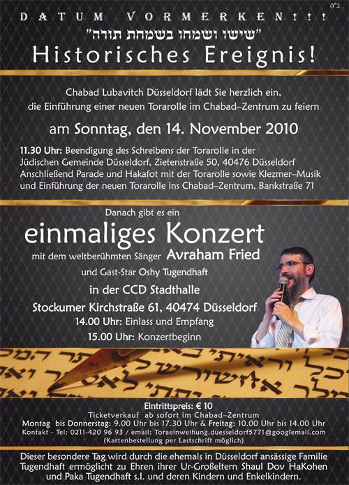 Einführung einer Torah in Düsseldorf
