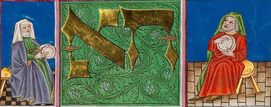 Ausschnitt aus der Tegernsee Haggadah