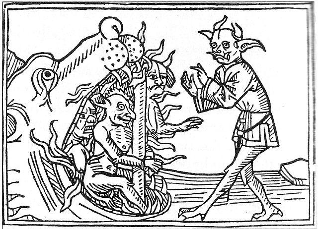Ein Zauberbuch - hier Dämonen