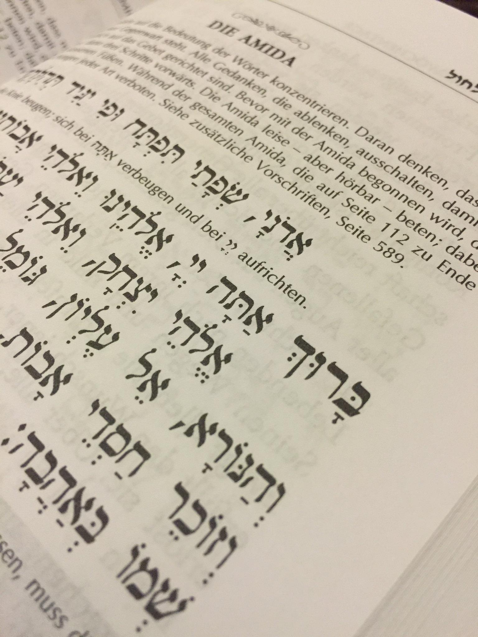 Siddur Tehillat HaSchem Detailansicht der Amidah