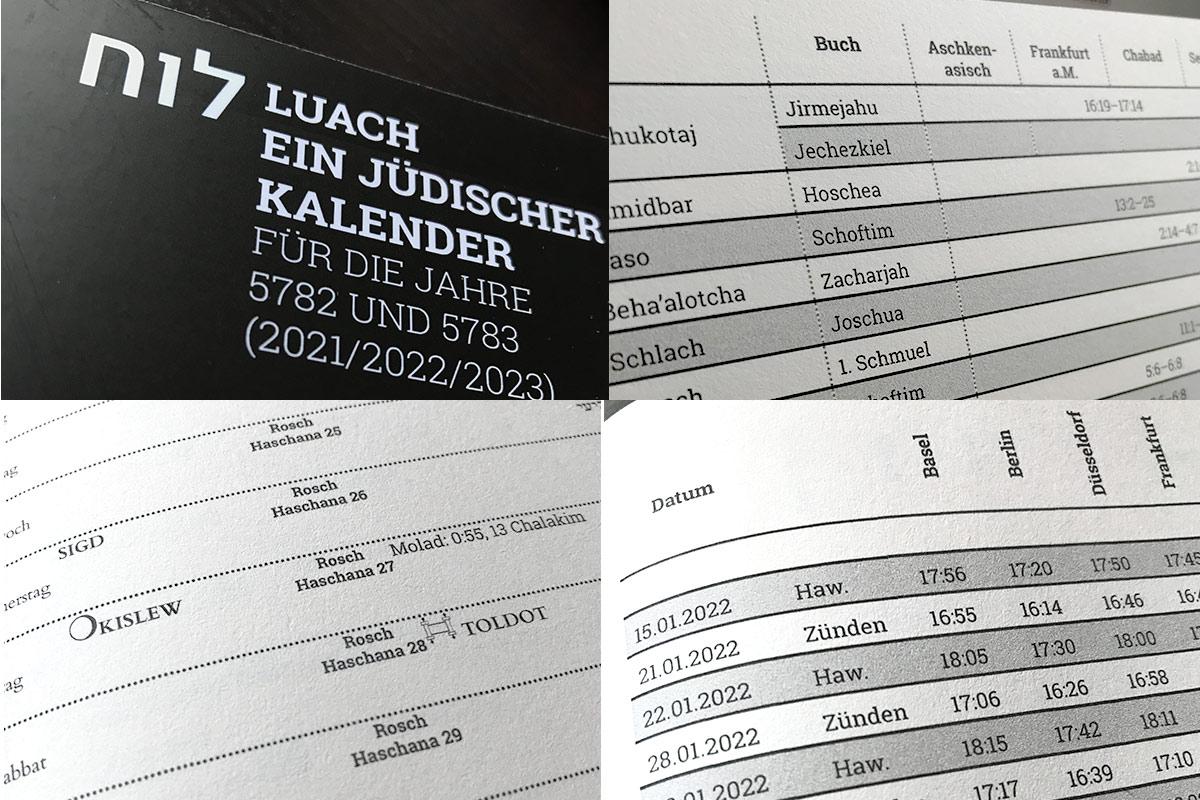Luach 5782 und 5783
